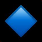 Смайл Небольшой голубой ромб ВКонтакте