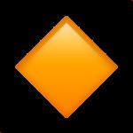 Смайл Небольшой оранжевый ромб ВКонтакте