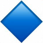 Смайл Большой голубой ромб ВКонтакте