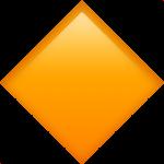 Смайл Большой оранжевый ромб ВКонтакте