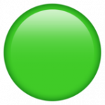 Смайл Зеленый круг ВКонтакте