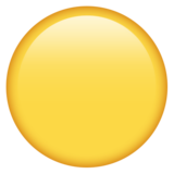 Смайл Желтый круг ВКонтакте