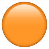 Смайл Оранжевый круг ВКонтакте