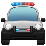 Смайл Полицейская машина спереди ВКонтакте