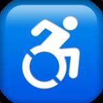 Смайл Значок «для инвалидов» ВКонтакте