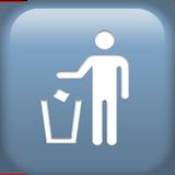 Смайл Бросайте мусор в урну ВКонтакте