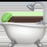 Смайл Принимает ванную (черный тон) ВКонтакте