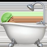 Смайл Принимает ванную (оливковый тон) ВКонтакте