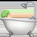 Смайл Принимает ванную (светлый тон) ВКонтакте
