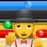 Смайл Женщина-жонглер ВКонтакте