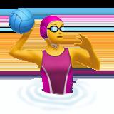 Смайл Женщина играет в водное поло ВКонтакте