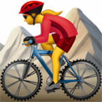 Смайл Женщина на горном велосипеде ВКонтакте