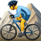 Смайл Мужчина на горном велосипеде ВКонтакте