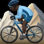 Смайл Горный велосипедист (черный тон) ВКонтакте