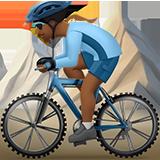 Смайл Горный велосипедист (темно-коричневый тон) ВКонтакте