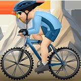 Смайл Горный велосипедист (светлый тон) ВКонтакте