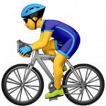 Смайл Мужчина велосипедист ВКонтакте