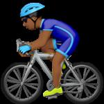 Смайл Велосипедист (темно-коричневый тон) ВКонтакте
