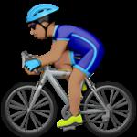 Смайл Велосипедист (оливковый тон) ВКонтакте