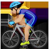 Смайл Велосипедист (светло-коричневый тон) ВКонтакте