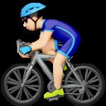 Смайл Велосипедист (светлый тон) ВКонтакте