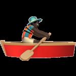 Смайл Вёсельная лодка (черный тон) ВКонтакте