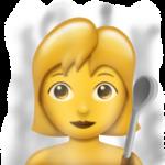 Смайл Женщина в парной комнате ВКонтакте