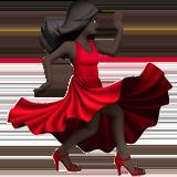 Смайл Танцующая женщина (черный тон) ВКонтакте