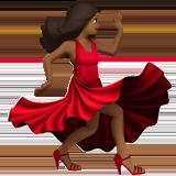 Смайл Танцующая женщина (темно-коричневый тон) ВКонтакте