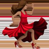 Смайл Танцующая женщина (оливковый тон) ВКонтакте