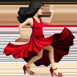 Смайл Танцующая женщина (светлый тон) ВКонтакте
