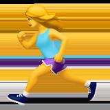 Смайл Женщина бежит ВКонтакте