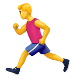 Смайл Мужчина бежит ВКонтакте