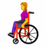 Смайл Женщина в инвалидной коляске ВКонтакте