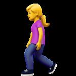 Смайл Женщина гуляет ВКонтакте