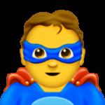 Смайл Мужчина-супергерой ВКонтакте