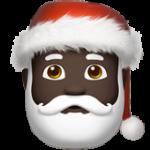 Смайл Дед Мороз (черный тон) ВКонтакте