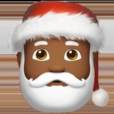Смайл Дед Мороз (темно-коричневый тон) ВКонтакте