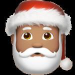 Смайл Дед Мороз (оливковый тон) ВКонтакте