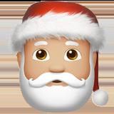 Смайл Дед Мороз (светло-коричневый тон) ВКонтакте