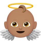 Смайл Ребенок-ангел (оливковый тон) ВКонтакте