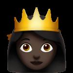 Смайл Принцесса (черный тон) ВКонтакте