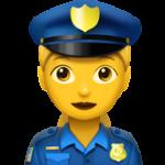 Смайл Женщина-полицейский ВКонтакте