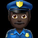 Смайл Офицер полиции (черный тон) ВКонтакте