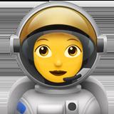Смайл Женщина-космонавт ВКонтакте