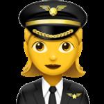 Смайл Женщина-пилот ВКонтакте