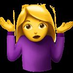 Смайл Женщина пожимает плечами ВКонтакте
