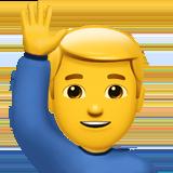 Смайл Мужчина с поднятой рукой ВКонтакте