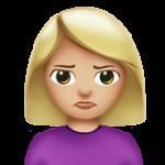 Смайл Человек с пухлым лицом (светло-коричневый тон) ВКонтакте