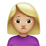 Смайл Человек с хмурым лицом (светло-коричневый тон) ВКонтакте